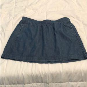 Adorable denim old navy mini skirt